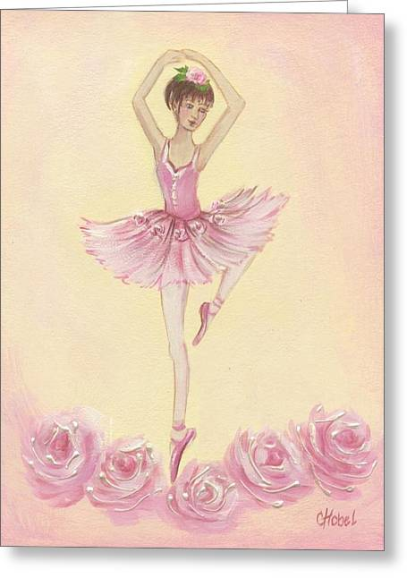 Ballerina Beauty Painting Greeting Card