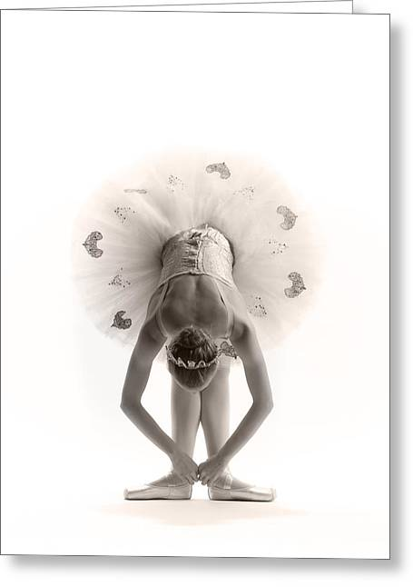 Ballerina Greeting Cards - Ballerina bent Greeting Card by Steve Williams