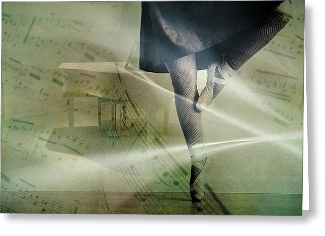 Ballerina Greeting Card by Cocoparisienne