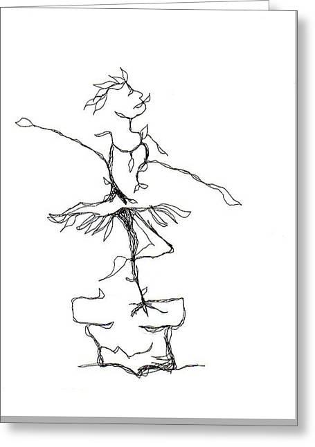 Ballerina- Cracked Pot Greeting Card