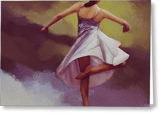 Ballerina Dance 0391 Greeting Card by Gull G