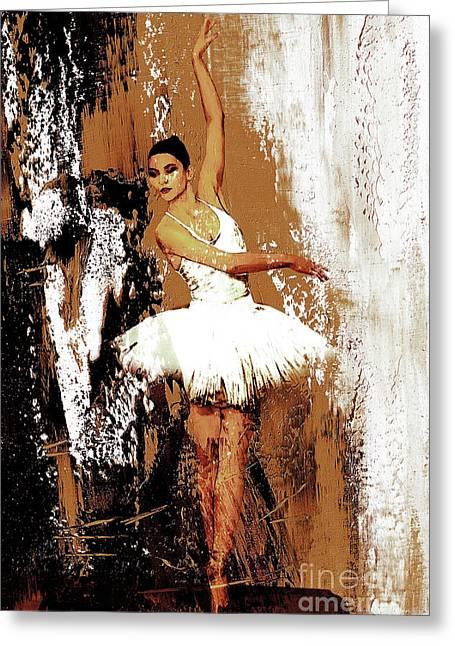 Ballerina Dance 093 Greeting Card by Gull G