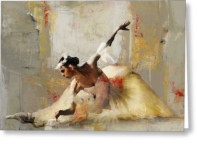 Ballerina Dance On The Floor 01 Greeting Card