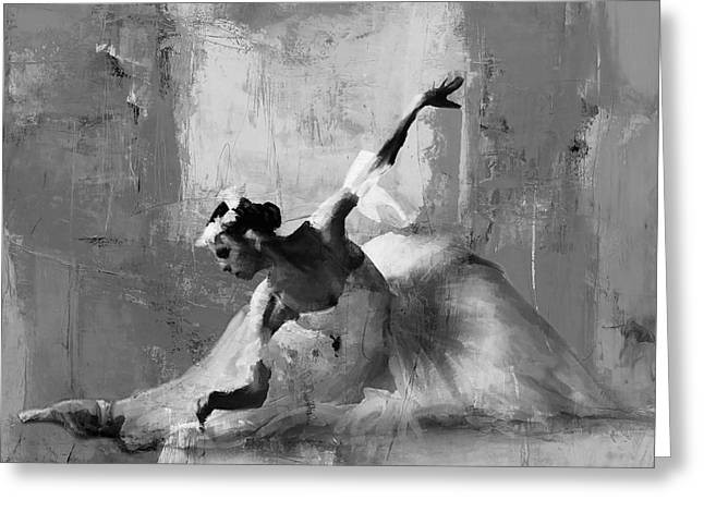 Ballerina Dance On The Floor  Greeting Card by Gull G