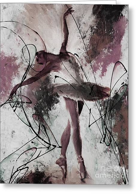 Ballerina Dance Painting 0032 Greeting Card by Gull G