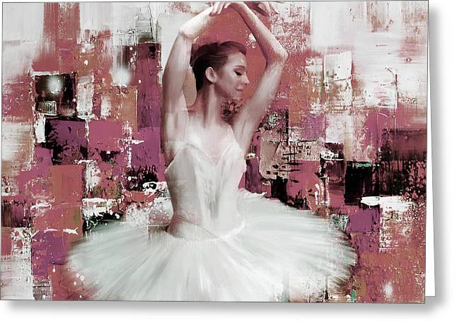 Ballerina Dance Painting 457 Greeting Card by Gull G