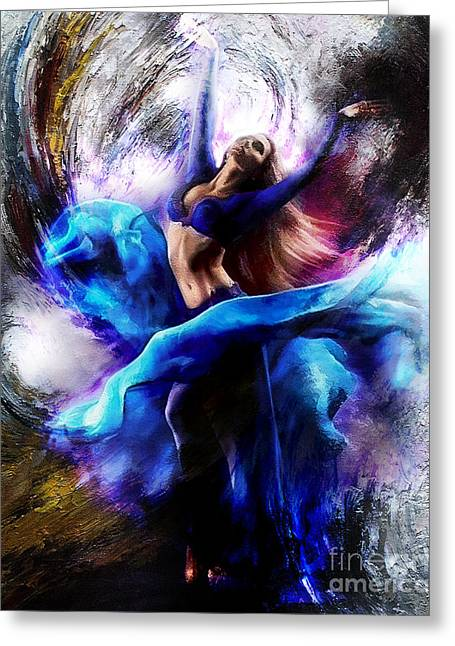 Ballerina Dance009-a Greeting Card
