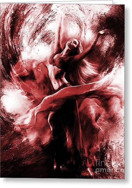Ballerina Dance009 Greeting Card