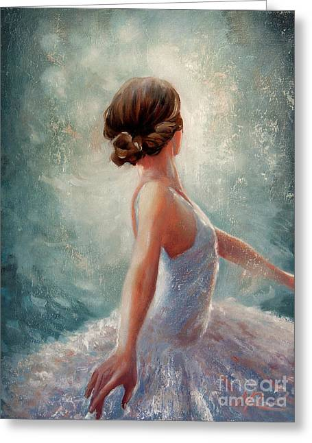 Ballerina Dazzle Greeting Card by Michael Rock