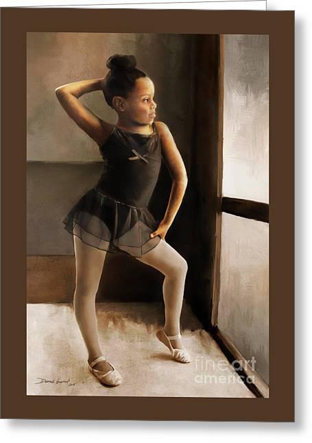 Greeting Card featuring the digital art Ballerina by Dwayne Glapion