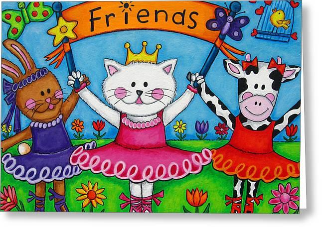Ballerina Friends Greeting Card by Lisa  Lorenz