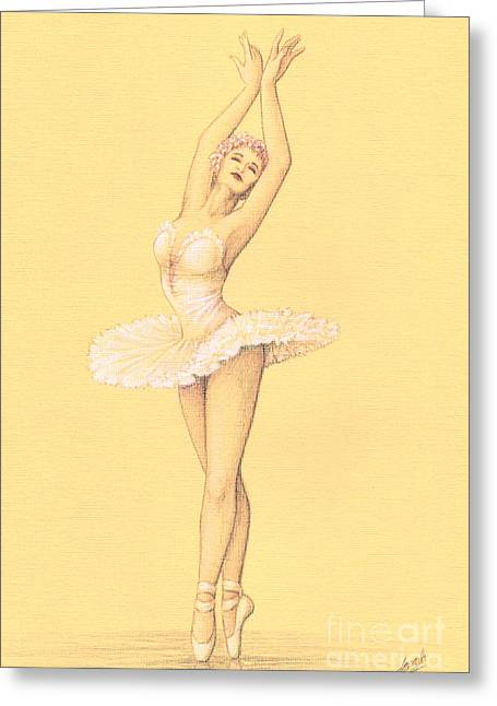Ballerina I Greeting Card by Enaile D Siffert