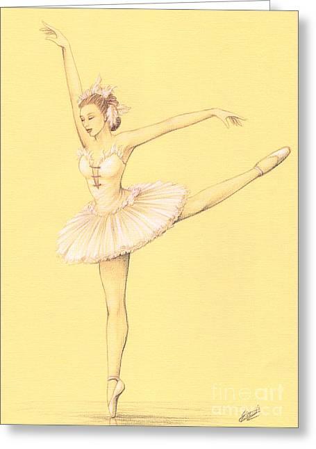 Ballerina II Greeting Card by Enaile D Siffert