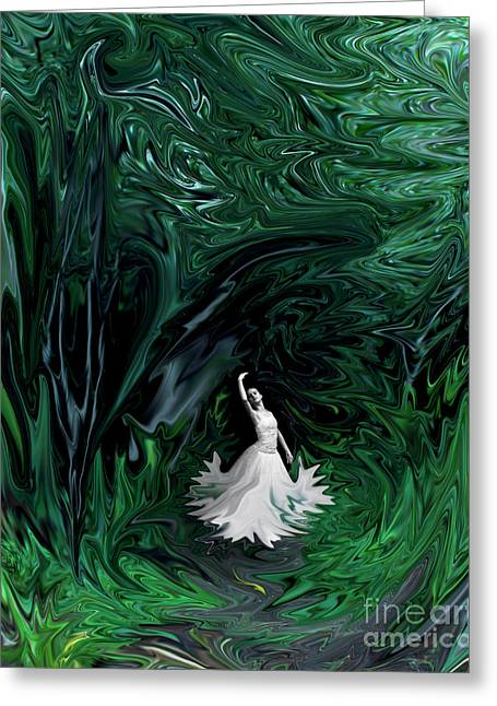 Greeting Card featuring the photograph Ballerina In Wonderland by Rebecca Margraf