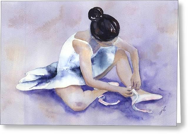 Ballerina Greeting Card by Jitka Krause