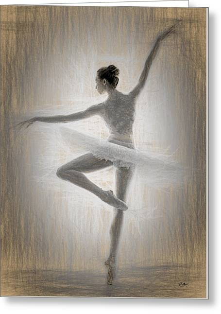 Ballerina Greeting Card by Quim Abella