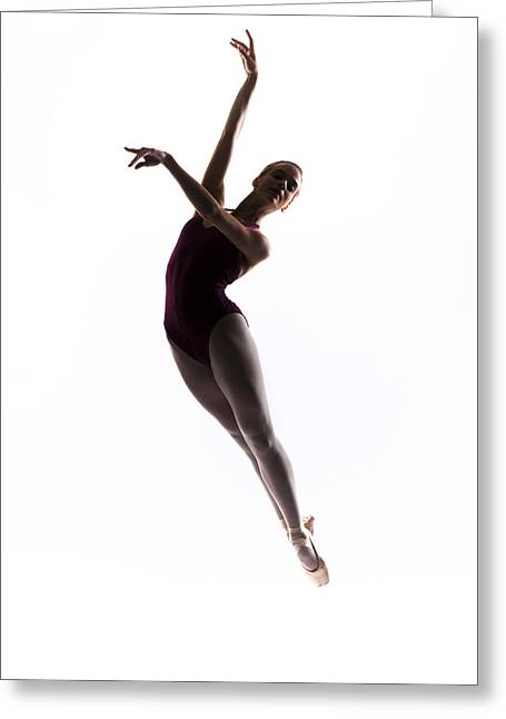 Ballerina Jump Greeting Card by Steve Williams