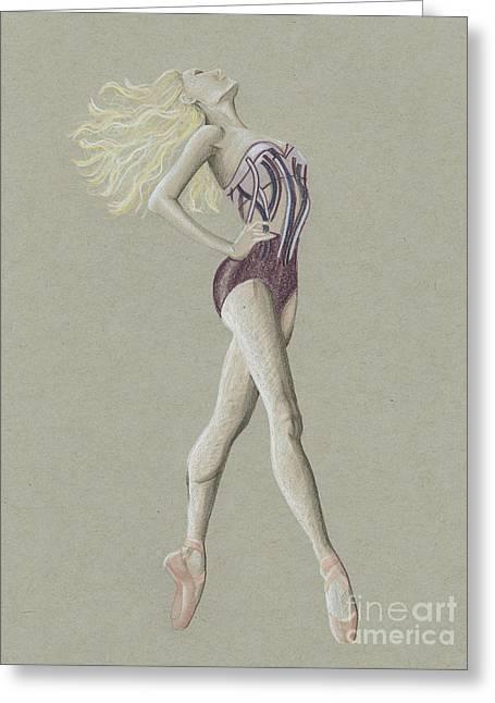 Ballerina Lady Greeting Card