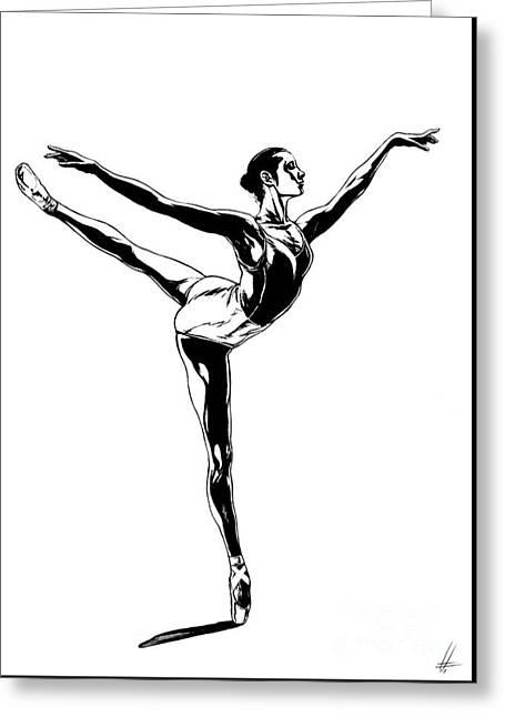 Ballerina Greeting Card by Lorenzo Fabriani