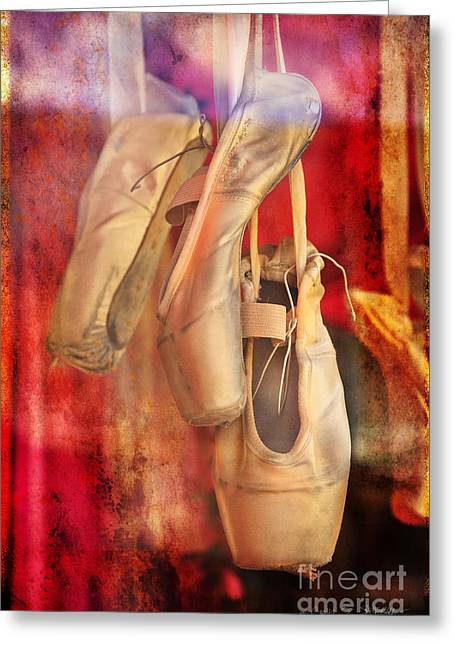 Ballerina Shoes Greeting Card by Craig J Satterlee