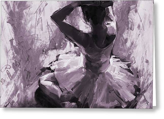 Ballerina Sitting 01 Greeting Card by Gull G