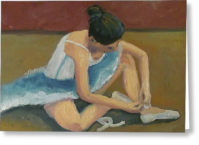 Ballerina Greeting Card by Susan  Spohn