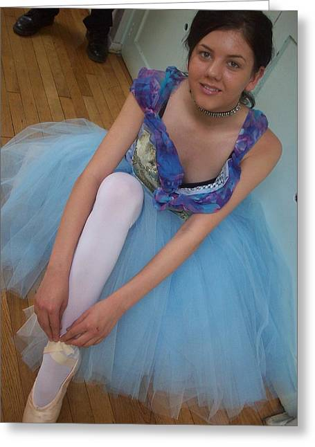 Greeting Card featuring the painting Ballerina Suzanne by Judith Desrosiers