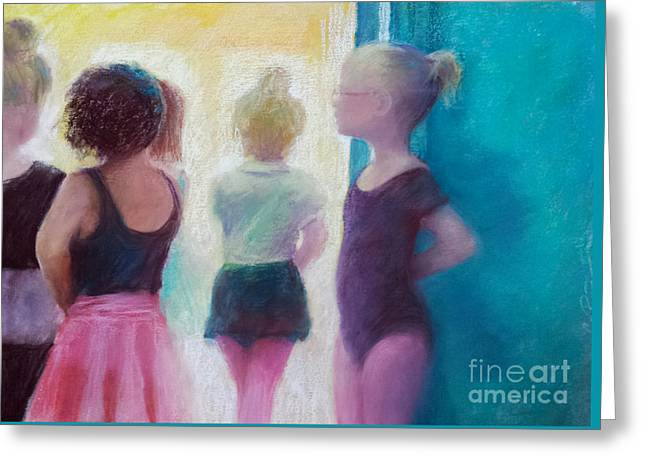 Ballerinas In Waiting Greeting Card by Cynthia Pierson