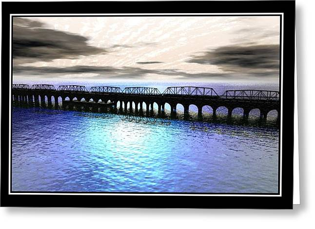 Ballester Bridge Greeting Card by William  Ballester