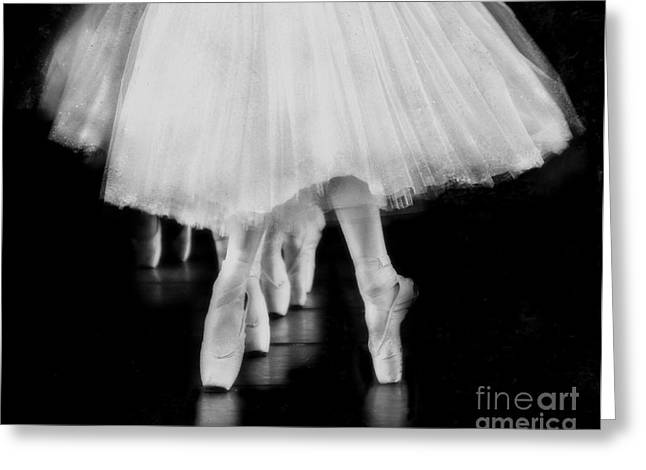 Ballet Black And White Greeting Card by Kevin Moore