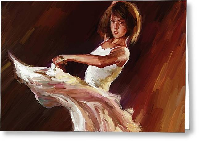 Ballet Dance 0706  Greeting Card by Gull G