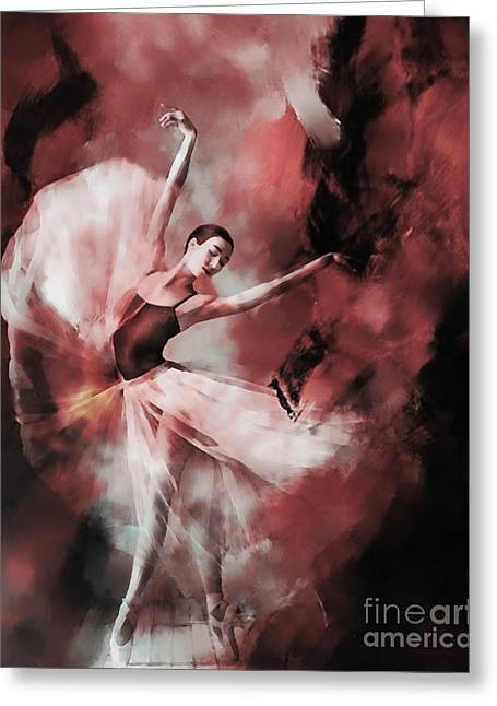 Ballet Dance 3323 Greeting Card by Gull G