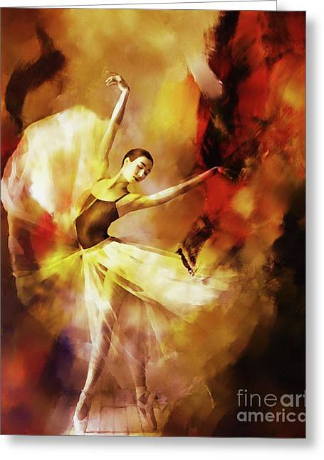 Ballet Dance 3390 Greeting Card by Gull G