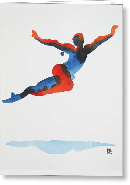 Ballet Dancer 1 Flying Greeting Card