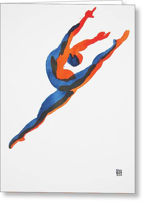 Ballet Dancer 2 Leaping Greeting Card