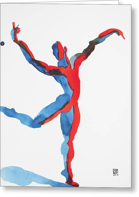 Ballet Dancer 3 Gesturing Greeting Card