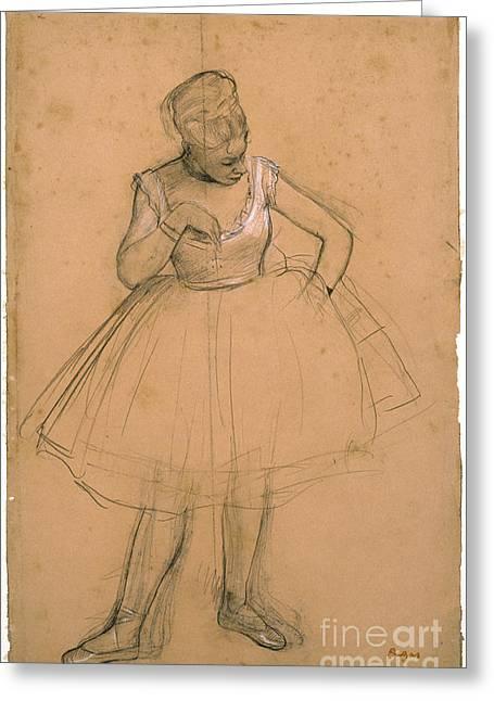 Ballet Dancer Adjusting Her Greeting Card by MotionAge Designs