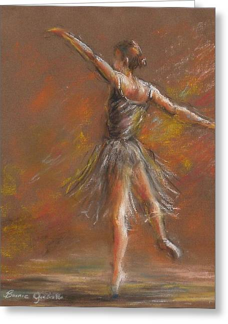 Greeting Card featuring the pastel Ballet Dancer by Bonnie Goedecke