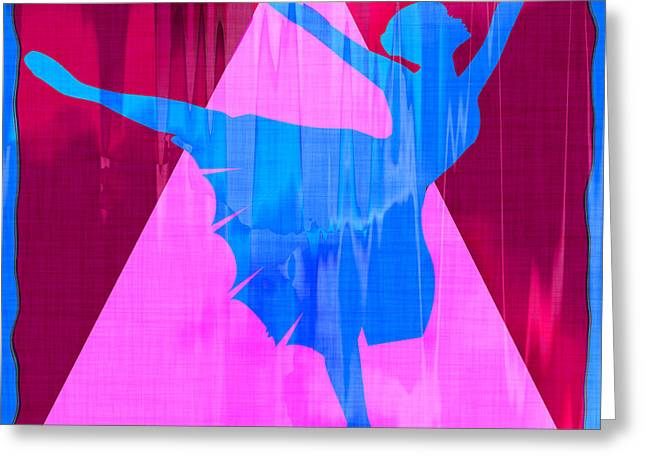 Ballet Dancer Greeting Card by David G Paul