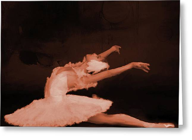 Ballet Dancer In White 01 Greeting Card