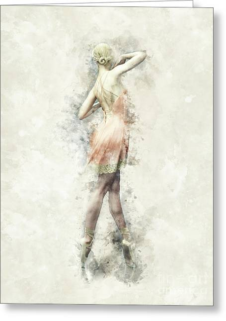 Ballet Dancer Greeting Card by Shanina Conway
