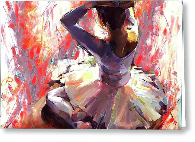 Ballet Dancer Siting  Greeting Card by Gull G