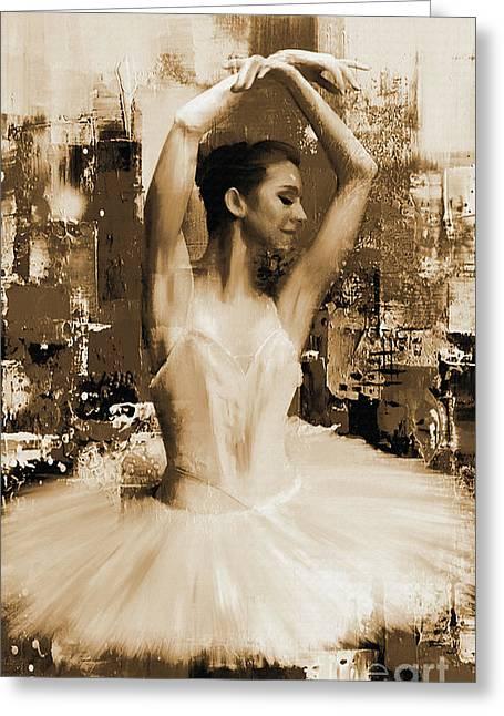 ballet dancer VC45 Greeting Card by Gull G