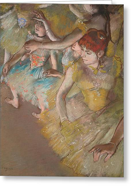 Ballet Dancers On The Stage 1883 Greeting Card by Edgar Degas