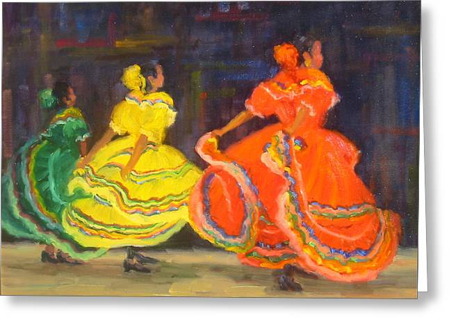 Ballet Folklorico Greeting Card by Bunny Oliver