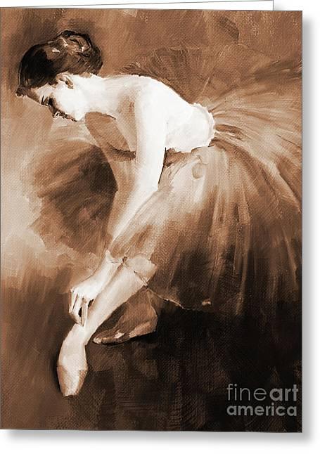 Ballet Girl 012 Greeting Card by Gull G
