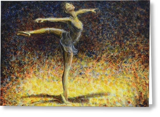 Greeting Card featuring the painting Ballet by Nik Helbig
