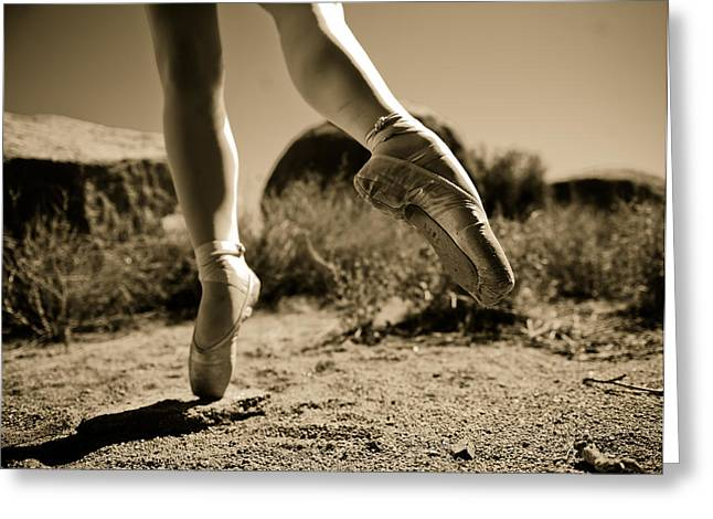 Ballet Pointe Greeting Card