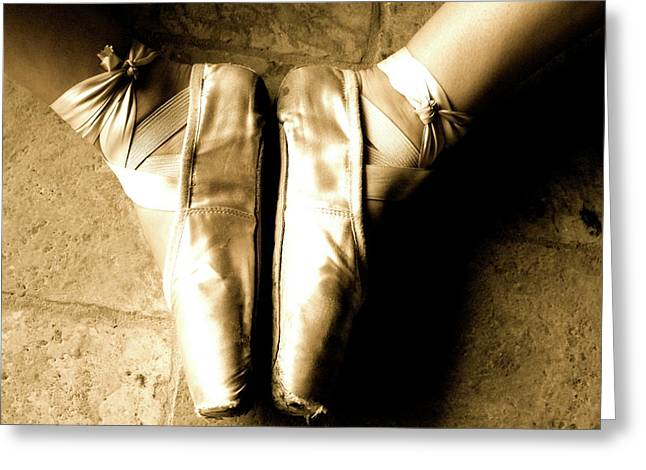 Ballet Dancers Photographs Greeting Cards - Ballet shoes Greeting Card by Alison Mae Photography