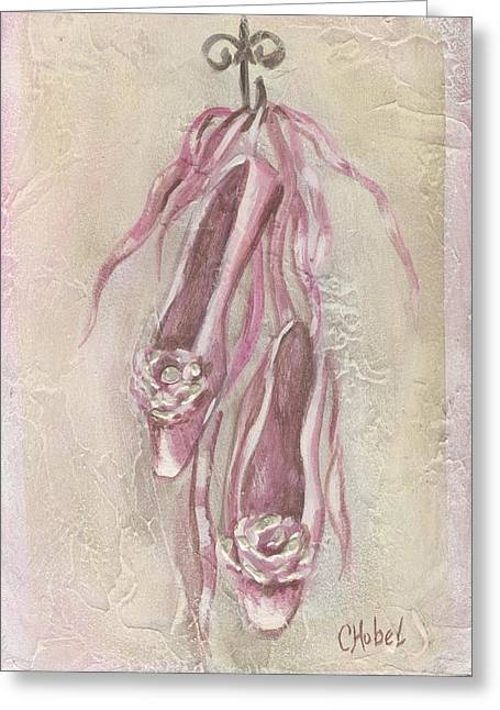 Ballet Shoes Painting Greeting Card